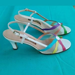 Shoes - 70's Jack Rogers 8N White Strap Back Heels